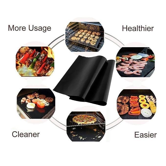 ... barbacoa hojas de horno resistente al calor reutilizable Durable fácil limpieza perfecto para la cocción sobre el Gas carbón de madera horno microondas ...