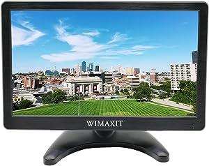 WIMAXIT 12 Inch IPS FHD 1920x1080 HDMI Monitor HDMI VGA BNC AV Input 5V USB Output for PC Computer Camera DVD Security CCTV DVR Home Office Surveillance