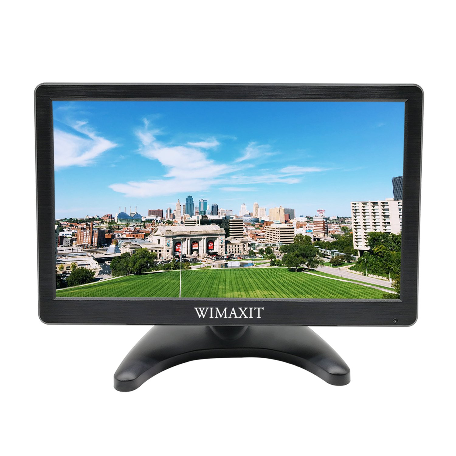 WIMAXIT 12 Inch IPS FHD 1920x1080 HDMI Monitor HDMI VGA BNC AV Input 5V USB Output for PC Computer Camera DVD Security CCTV DVR Home Office Surveillance by WIMAXIT