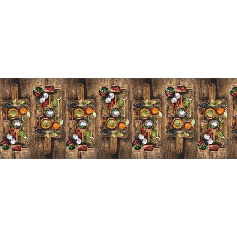 Teppichläufer Küchenläufer Retro Kacheln bunt blau Läufer 50x180 cm waschbar