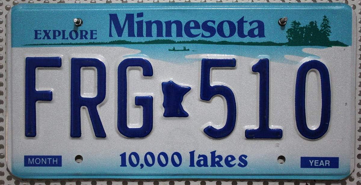 Original Kfz Nummernschild Minnesota Kennzeichen Us License Plate Usa Autoschild Küche Haushalt