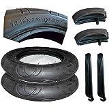 2x Reifen + Schlauch 12 1/2 x 2 1/4 Zoll DIN 57- 203 mit Montagehebel