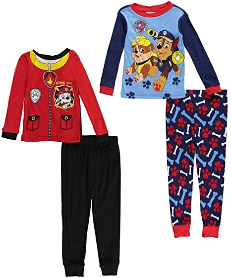 99bdd1dc5a4c Amazon.com  Paw Patrol Toddler Boys 4 Piece Cotton Pajamas Set (2t ...