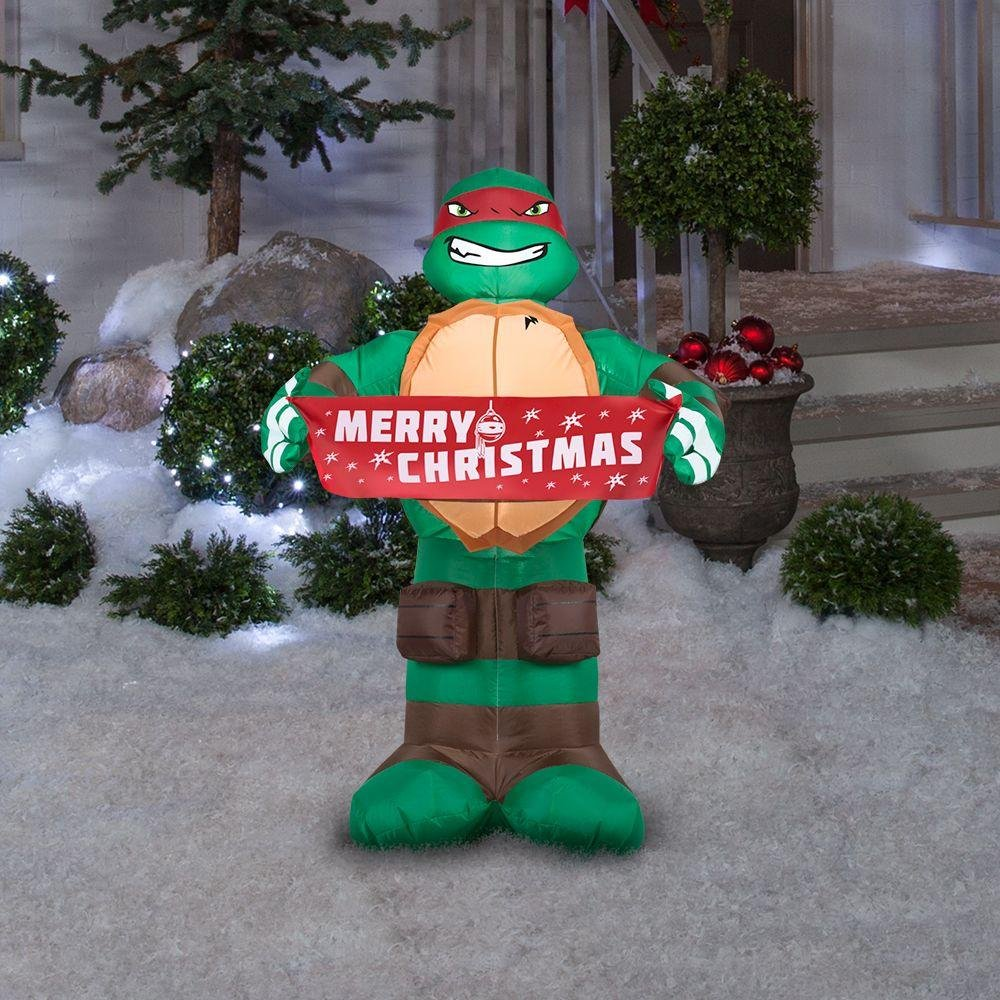 Ninja Turtles Christmas Airblown Inflatable Yard Decoration Animals ...