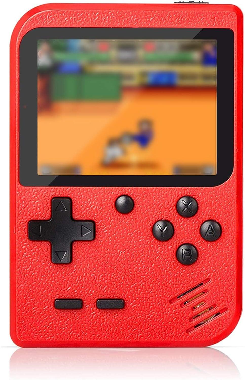 Amazon.es: Flybiz Consola de Juegos Portátil, 3 Pulgadas Consola de Juegos portátil Pantalla HD Consola de Juegos Retro con 400 Juegos, Soporte conectar TV, Regalo de Cumpleaños para los Niños Padres, Rojo
