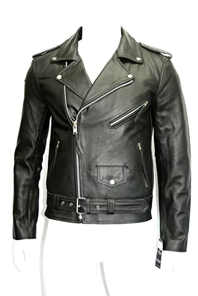 Botts And Leather Hombre Chaqueta de Moto de Cuero de Brando ...