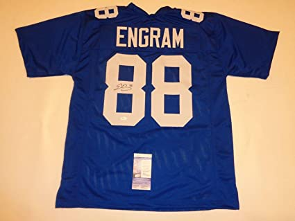 hot sales 82ba4 885e9 Signed Evan Engram Jersey - blue Rookie Premier - JSA ...