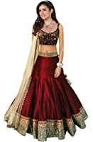 Vaankosh Fashion Women's Cotton Lehenga (red_Free Size)