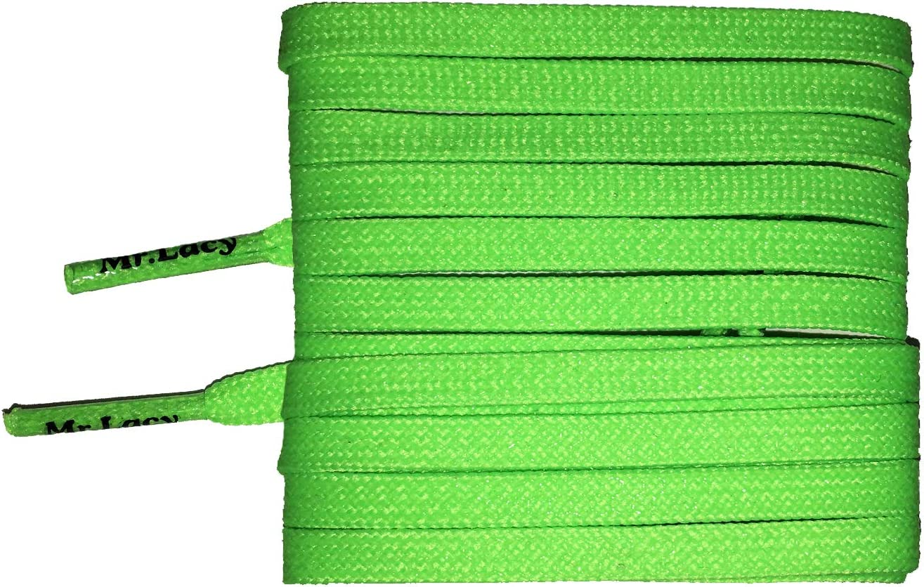 Laces for football shoes Mr Lacy Goalies slim Black 125 cm long 4 mm wide