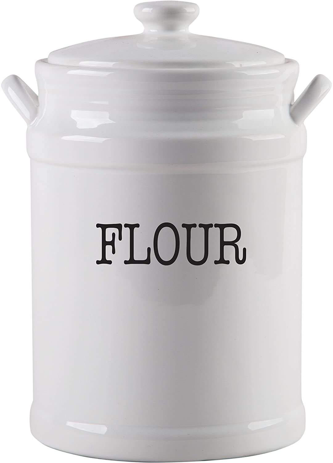 "Home Essentials 135 Oz Large Canister - ""Flour"" With Handle"