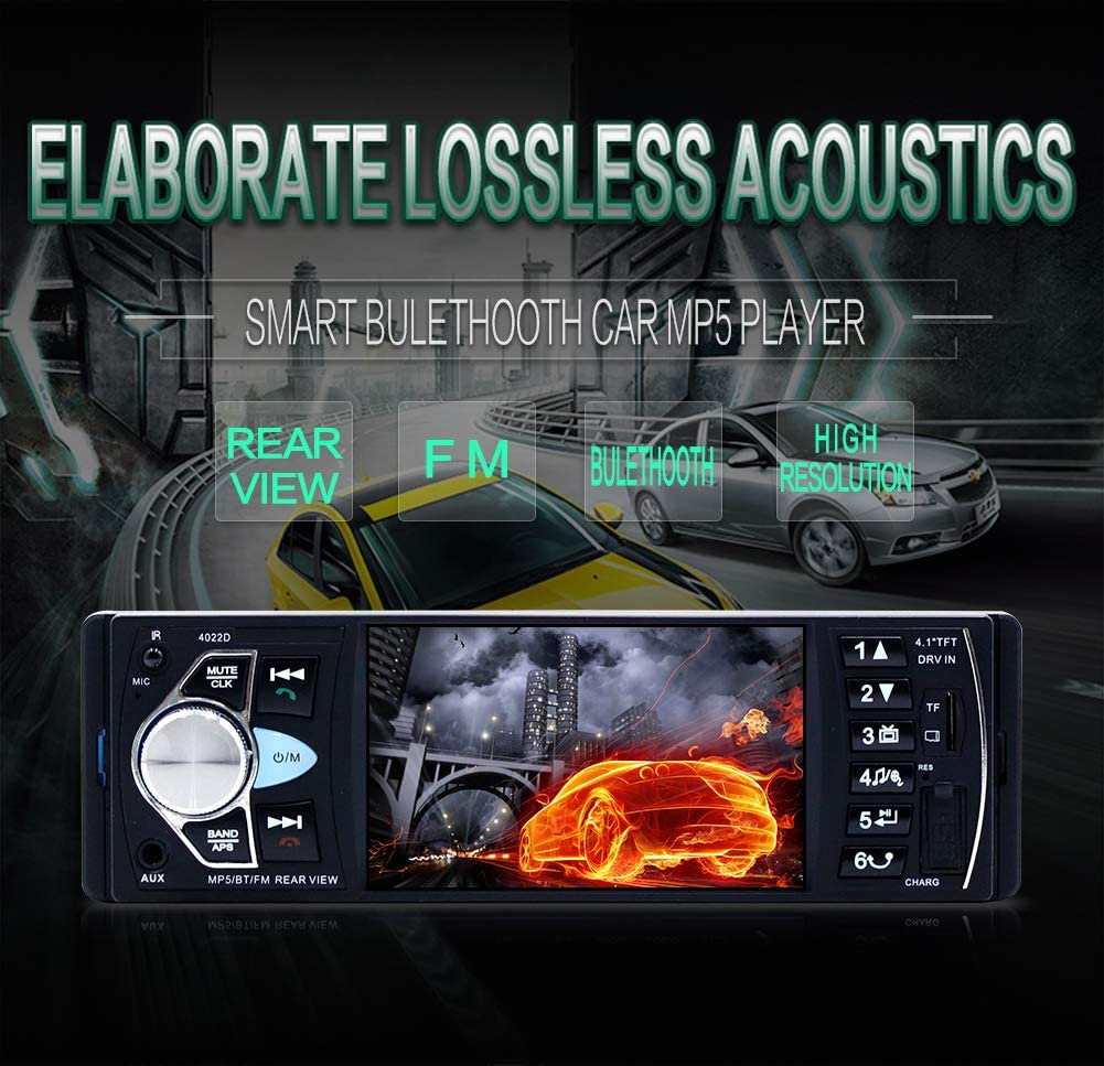 4.1inch Audio Car Mp5 Player FM Car Radio 1Din Autoradio Bluetooth Audio Auto Stereo Mp4 LFJNET Car Stereo