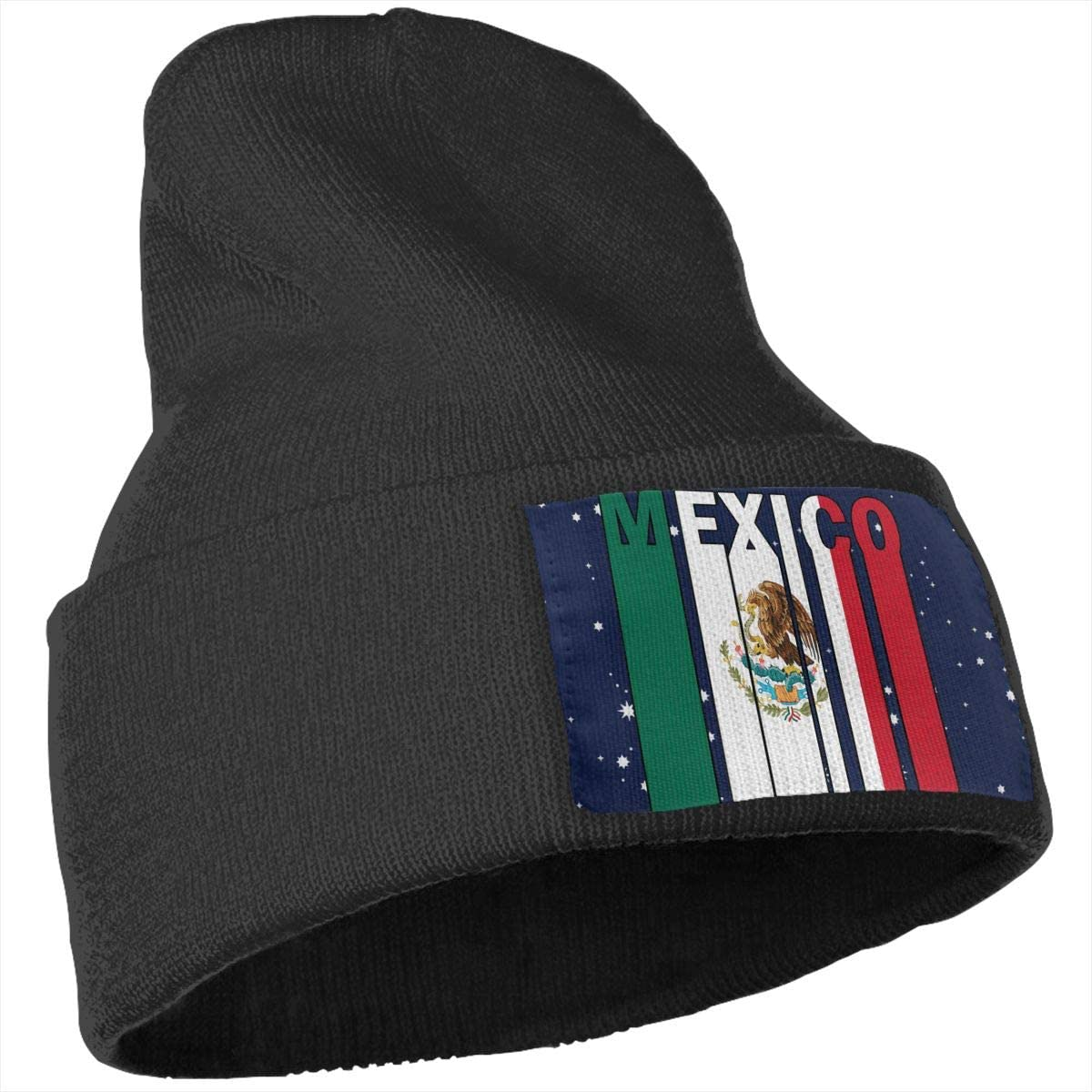 Mexico Flag Word Skull Cap Men /& Women Knit Hats Stretchy /& Soft Beanie