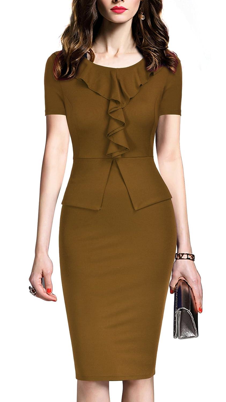 adb66117a2a30 Amazon.com: REPHYLLIS Women's Vintage One Piece Office Wear to Work Pencil  Dress: Clothing