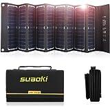 Suaoki - 60W Cargador Plegable del Panel Solar, Alta Eficiencia 18V DC al Cargador Plegable Portátil de la Salida del USB 5V