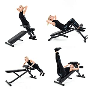 Vanswe Adjustable Sit Up Bench