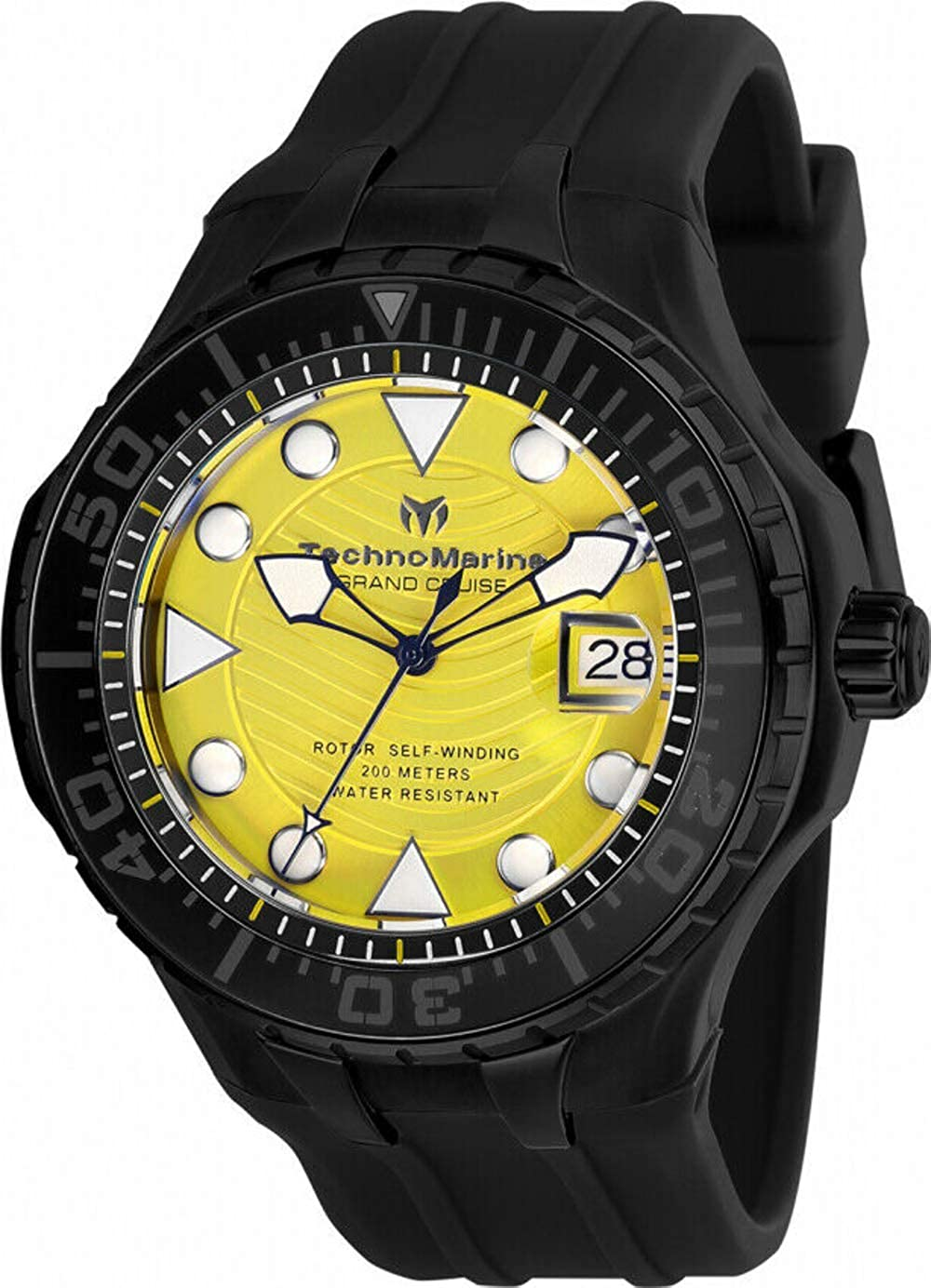 Technomarine TM-118084 Cruise Men's 48mm Automatic Black-Tone Steel Yellow Dial