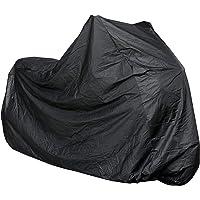 Telo coprimoto impermeabile universale 210 x 120 cm Nero Resistente ad acqua polvere pioggia e vento per moto motorino scooter bicicletta bici motocicletta copertura copri