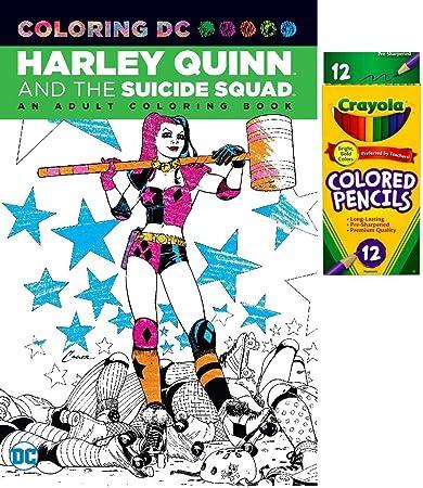 Sconosciuto Harley Quinn The Suicide Squad Libro Da Colorare E Matite Colorate Set Regalo Amazon It Casa E Cucina