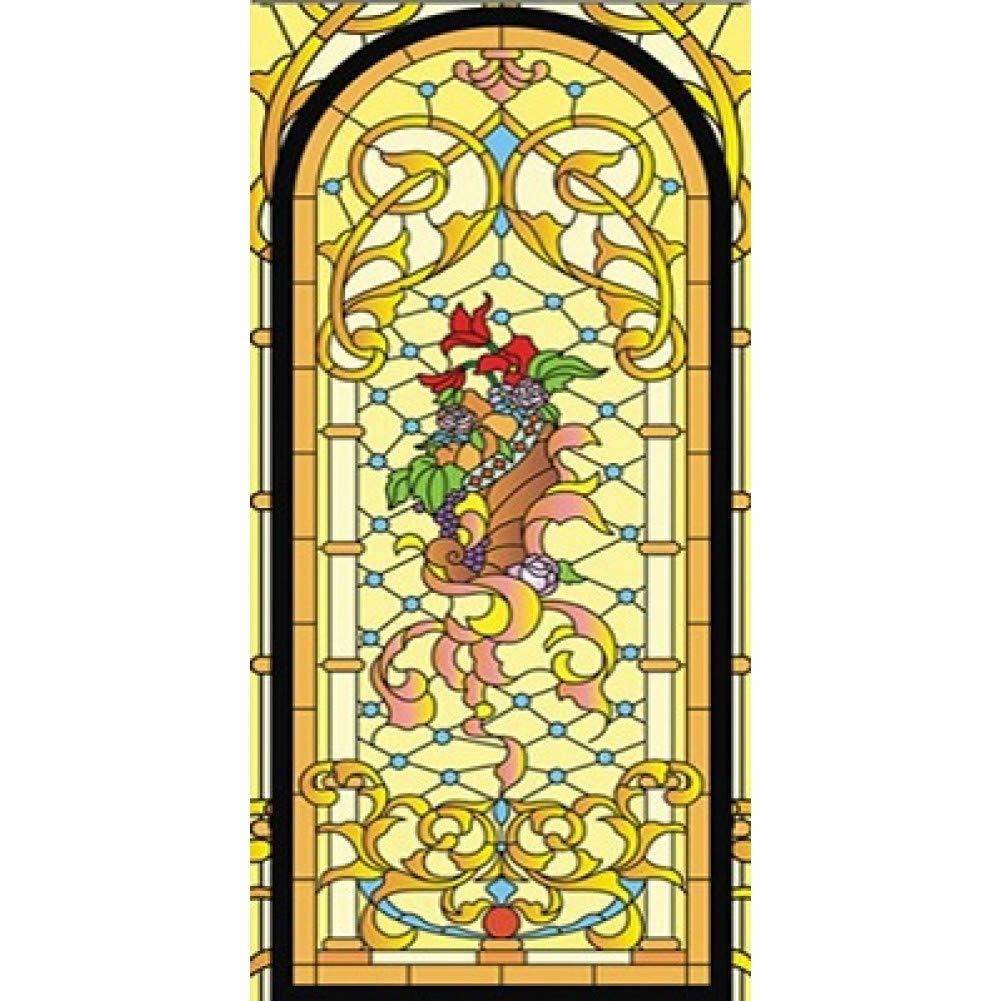 KUNHAN Fensterfolie Benutzerdefinierte Größe Elektrostatisch Matt Glasmalerei Fenster Fenster Fenster Film Kirche Hause Folientür Aufkleber PVC Selbstklebende Fensterfolien Fensterfolie Sichtschutz B07PY7T9SJ Fensterbilder 8ea675