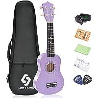 Soprano Ukulele Beginner Pack, 21 Inch Basswood kids Ukuleles Starter Kit with Gig Bag Digital Tuner Spare Strings and Picks.