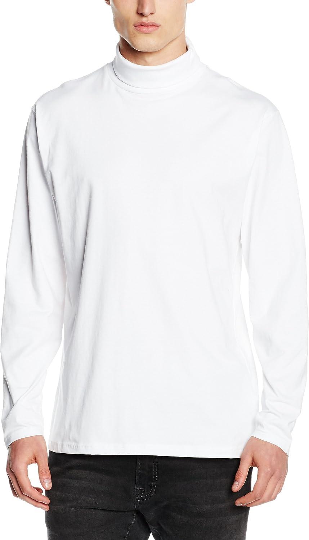 RW615 Sweatshirt S-2XL Henbury Mens Long Sleeve Cotton Rich Roll Neck Top
