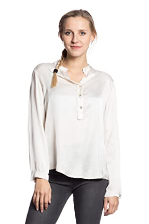 Abbino 3225 Bluse mit Stehkragen Damen Frauen Mädchen - Made in Italy - 5  Farben - Damenblusen Feminin Freizeit Sale Viskose Jung Mode Übergang Herbst  ...