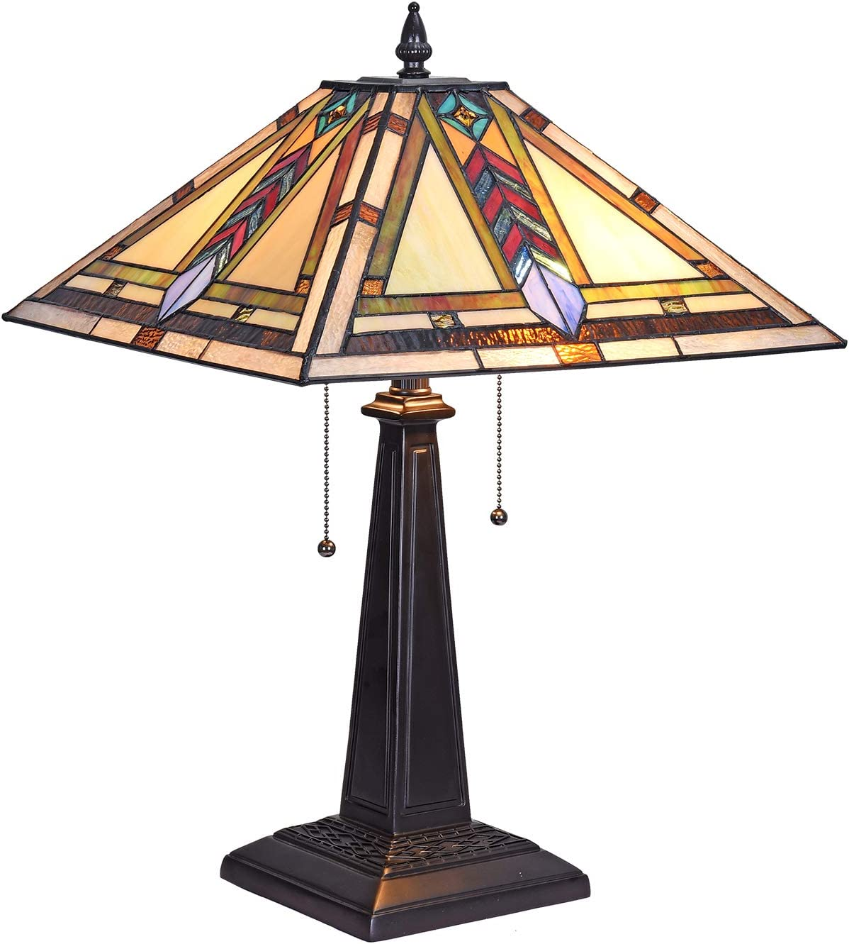 Artzone 16 inch Tiffany Style Table Lamp Banker Mission, Tiffany Style Table Lamp Mission, Tiffany Desk Lamps for Home Office, Tiffany Desk Lamps Office Bankers, Tiffany Desk Lamp Banker
