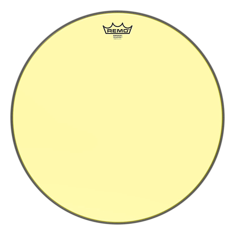 Remo Emperor Colortone Yellow Drumhead, 18
