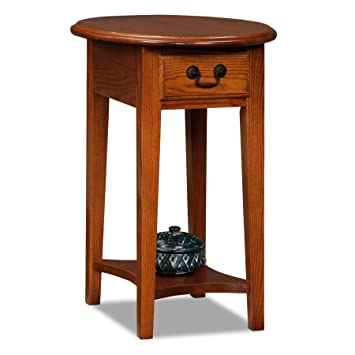 oval side table. Leick Furniture Oval Side Table, Medium Oak Table I