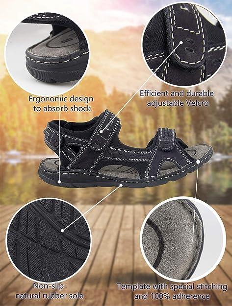 Zerimar Sandalias Hombre | Sandalias Trekking Hombre | Sandalias Hombre Senderismo | Sandalias Hombre Cuero | Sandalias Hombre Verano: Amazon.es: Zapatos y ...