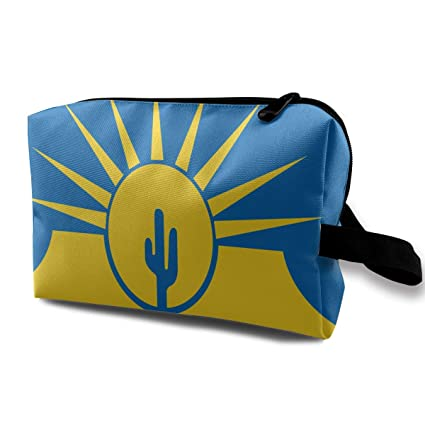 Amazon.com: Denim09 Cosmetic Bags Flag of Mesa Arizona Cute ...