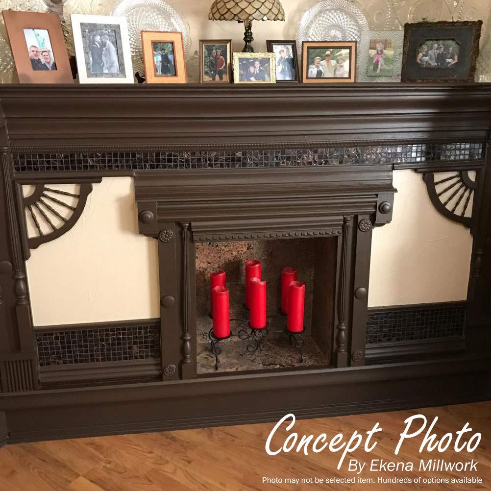 , 6-Pack Ekena Millwork CORW04X02X07COCH-CASE-6 4 inch W x 2 1//2 inch D x 7 1//2 inch H Cole Pilaster Wood Corbel Cherry