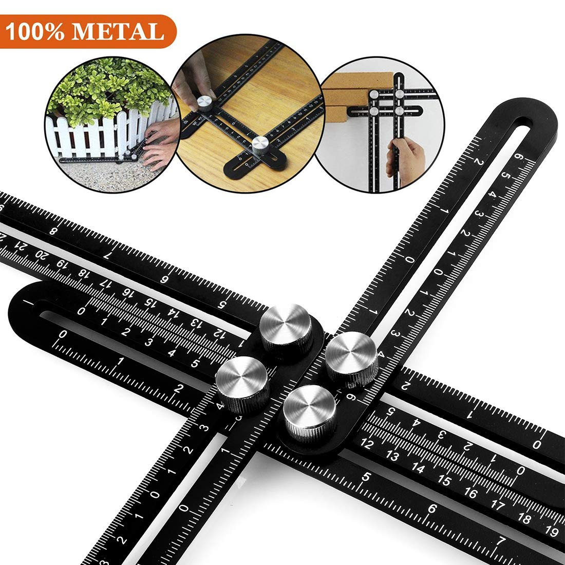 Angleizer Template Tool Multi Angle Measuring Ruler Easy Angle Ruler for Handymen Builders Craftsmen Roofers or Any DIY ers Aluminum Alloy