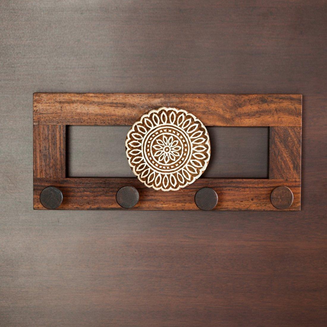 Wall Hanging | Wood Flower Block Key Holder