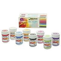 Gel Lebensmittelfarben für Fondant Marzipan Cupcake Sahne Kuchen Torte Eis (8 Farben Set)