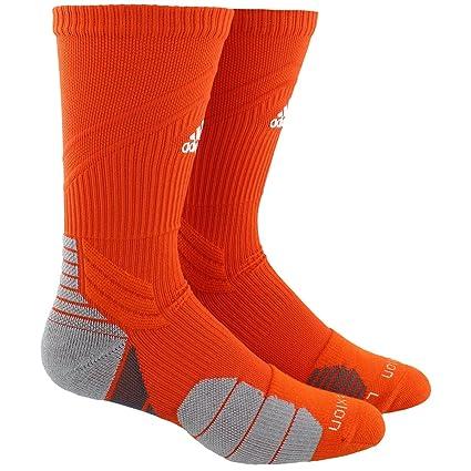 e81981294 adidas Traxion Menace Basketball/Football Crew Socks (1-Pack), Collegiate  Orange