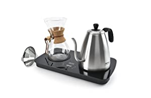 Aroma Housewares (AWK-2000GD) Professional Digital Pour Over Coffee Maker 1 L Stainless Steel