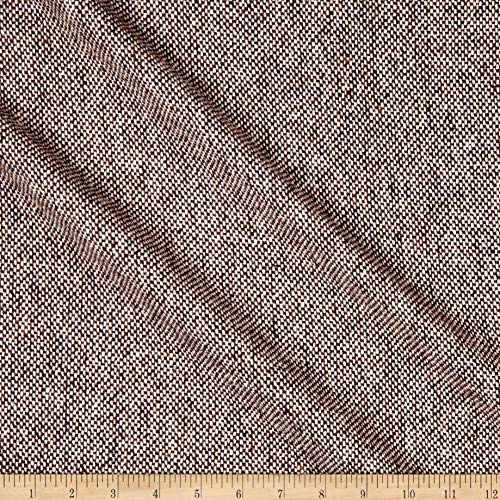 Tuva Textiles Wool Blend Coating Tweed Fabric, Brown, Fabric By The Yard