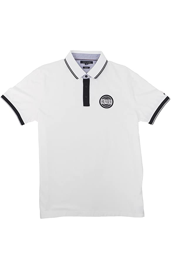 Tommy Hilfiger - Polo - para Hombre Blanco Blanco XL: Amazon.es ...