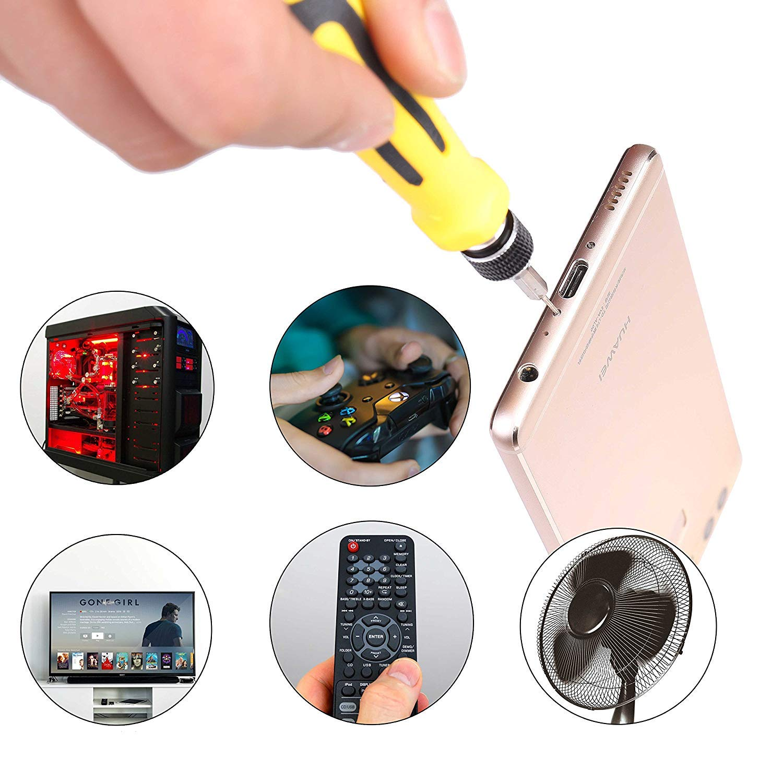 Tournevis Kit de Tournevis Multi-usage 45 en 1 Tournevis de Pr/écision Outils de R/éparation Pour Portable Lunettes,Laptop,Appareil Ordinateur