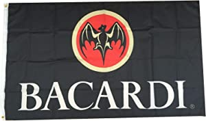 Flylong Bacardi Rum Flag Banner Alcohol Liquor Bar Man Cave Garage Decor 3x5Feet