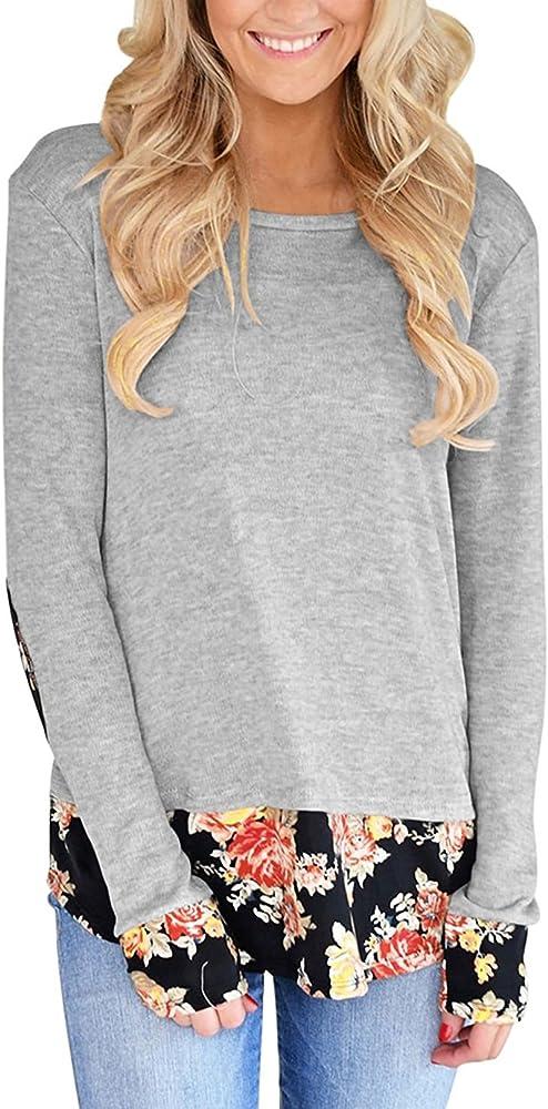 Twippo Camisas Mujer Moda Blusas Mujer De Invierno Gris L: Amazon.es: Ropa y accesorios