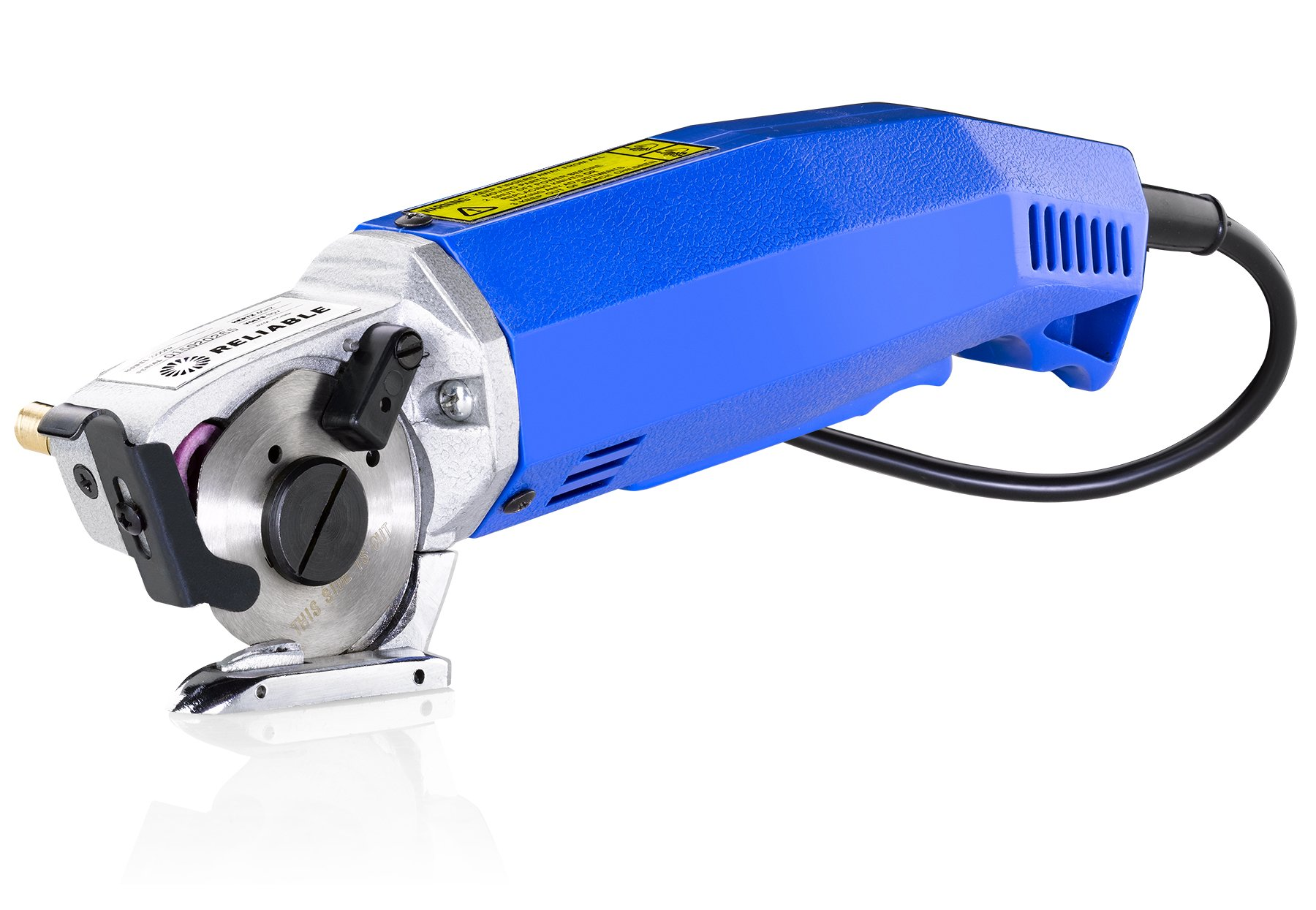Reliable 1000FR Hand-Held Fabric Cutting Machine With Round Knife Cutting Machine 2 inch, 1/4 inch cutting capacity, Cast Aluminium Head, High Torque Motor, Built-In Sharpener and Knife Guard by Reliable