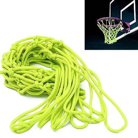 Red de baloncesto, CAMTOA, brilla en la oscuridad, nailon ...
