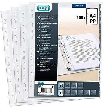 Elba 400005473 - Funda de plástico (A4, 0,09 mm, antideslumbrante,