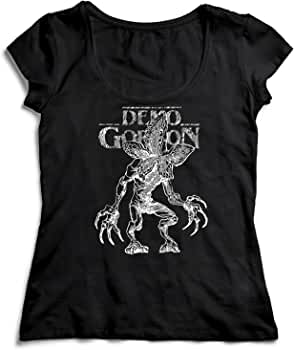MYMERCHANDISE Demogorgon T-Shirt Camiseta Shirt para la Mujer Camisa Negra Womens Women Tshirt 100% Algodón Regalo De Cumpleaños Navidad Mujer: Amazon.es: Ropa y accesorios