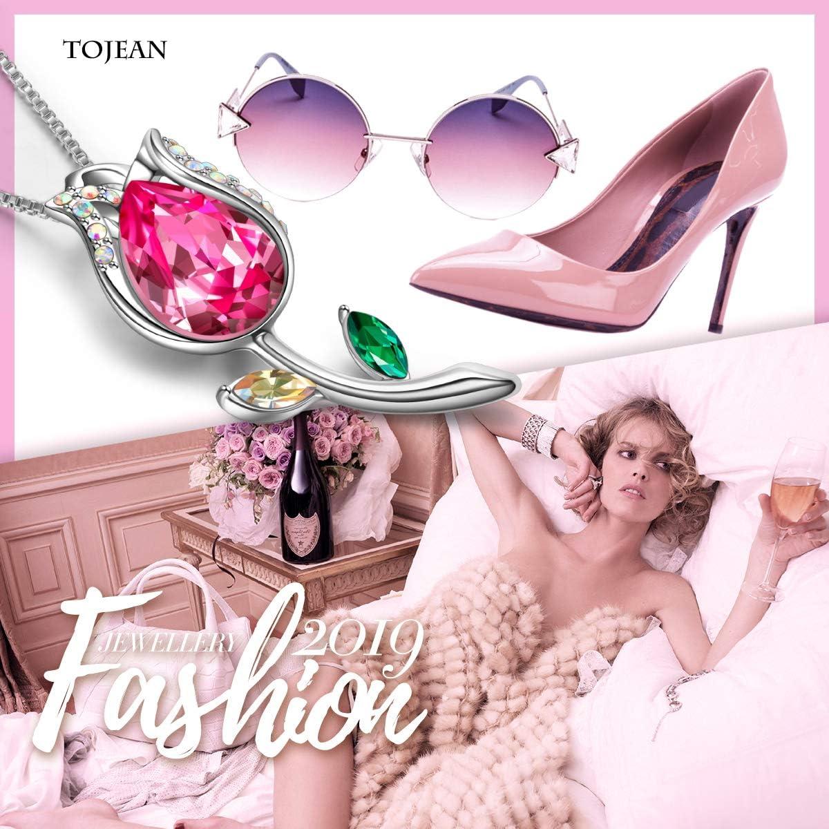 TOJEAN Collier avec pendentif /« Crystal of Love /» pour femme avec cristaux Swarovski