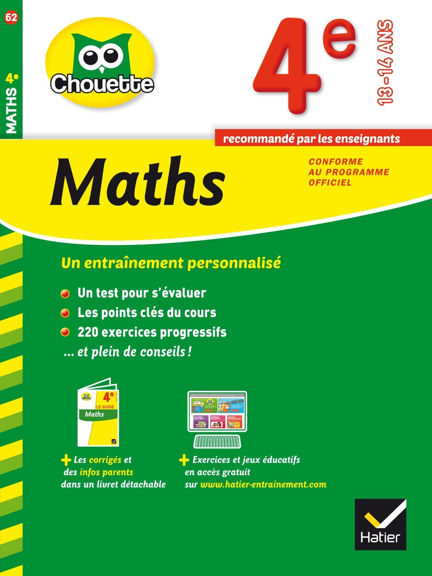 Amazon Fr Maths 4e Cahier De Revision Et D Entrainement Bonnefond Gerard Daviaud Daniel Revranche Bernard Livres