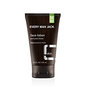 Every Man Jack Face Lotion, Fragrance Free, 4.2 Fluid Ounce