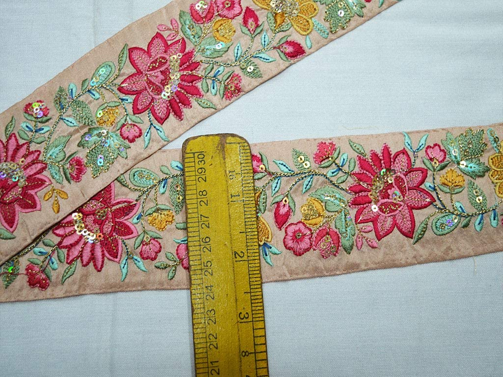 9 Yard Wholesale Indian Embroidered Sari Border Trim Embroidery Embellishment  Saree Ribbon Cushions Home D\u00e9cor Sewing DIY Crafting Trimming